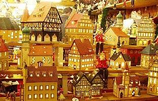 kerst etalage in frankfurt