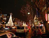 versierde straat berlijn