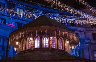 kerstmarkt versiering in oberhausen