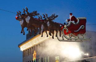 show op de kerstmarkt