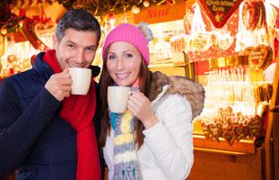 stel op de kerstmarkt keulen