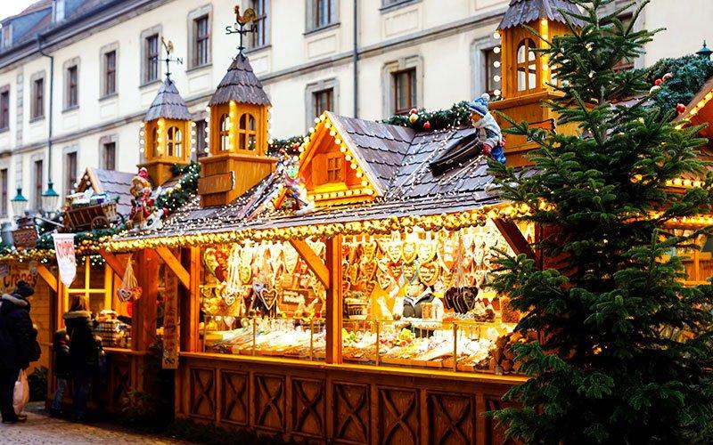Kraampje op de Kerstmarkt in Osnabrück